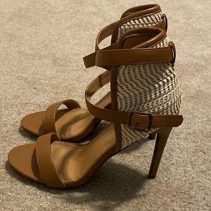 NWOT Venus Double Strap Heel Sandal
